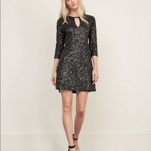 NWT Abercrombie & Fitch black Sequin dress size S